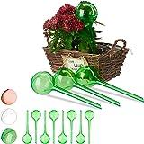 Relaxdays 12 x Bewässerungskugeln, Dosierte Bewässerung, 2 Wochen, Versenkbar, Topfpflanzen, Kunststoff…