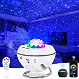 Galaxy Projector Light, Ouyulong LED Starry Sky Night Light Ocean Wave Color Changing 10 Color Mode with Bluetooth Music…