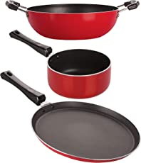 Nirlon Non-Stick Chemical Free Non-Induction 3 Piece Cooking Utensils Combo Set