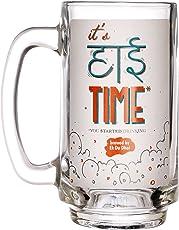 Ek Do Dhai High Time Beer Mug, 360ml, Multicolour (HT_BM)