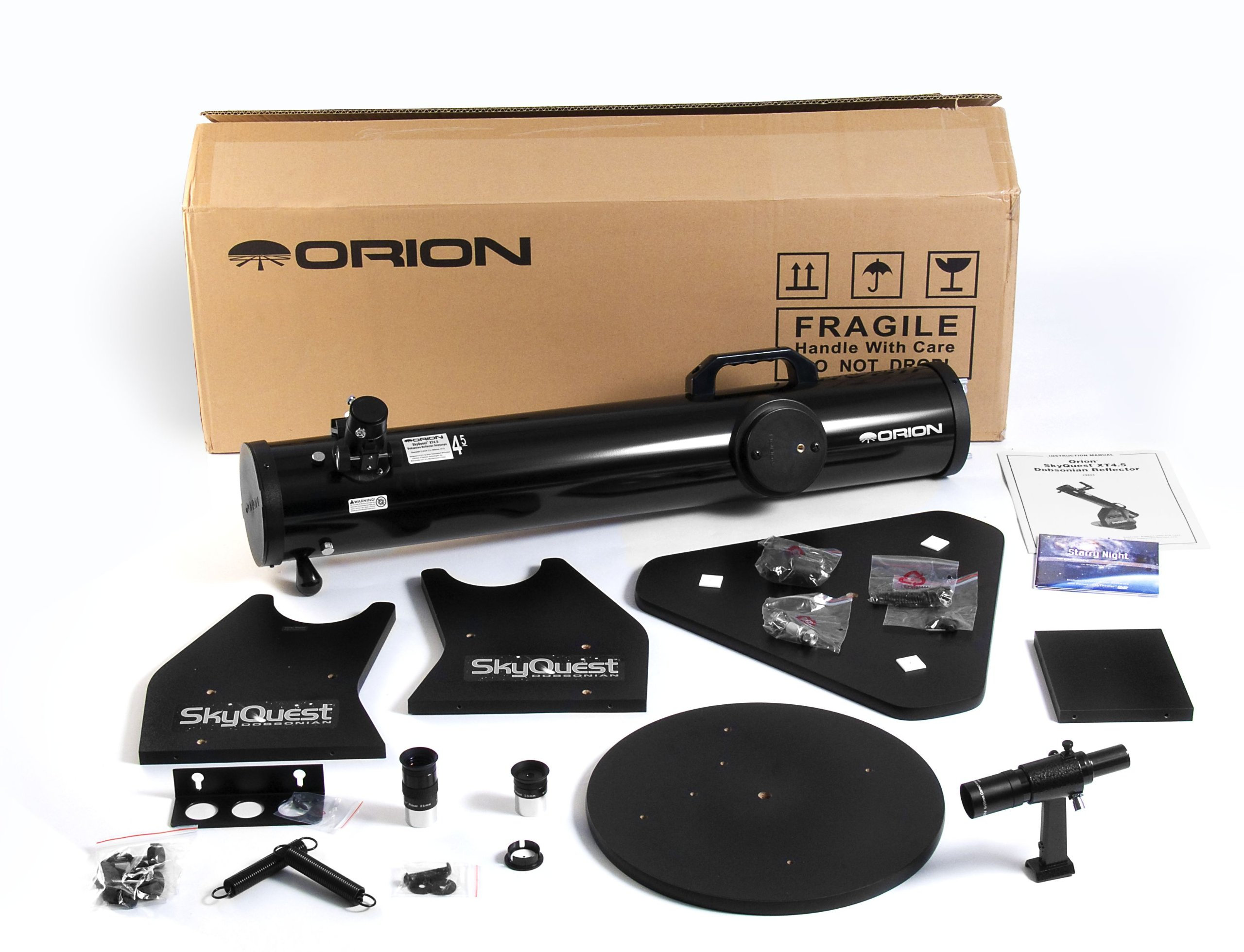 Orion 10014e 17x Black Reflector - Telescopes (88.9 cm, 8kg, 11.4cm in Metal and Wood)