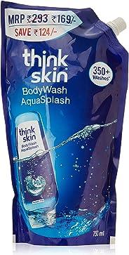 Think Skin Body Wash - Aqua Splash, Refill Pack, 750 ml