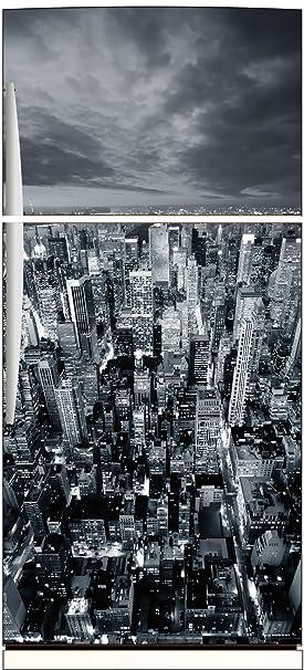 Stickersnews - Sticker frigo déco cuisine New York Noir et Blanc ...