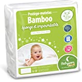 Babysom - Madrasskydd för baby | madrasskydd för barn – bambu – 60 x 120 cm – naturfiber – vattentät – mjuk och andas