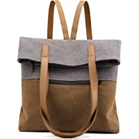 VOLGANIK ROCK Canvas Umhängetasche Damen Große Handtasche Canvas Rucksack Schultertasche Multifunktionstasche für Frauen…