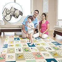 TGTT Tappetino da gioco per bambini, extra large tappeto per bambini , non tossico, antiscivolo, impermeabile e…