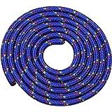 Vinex Touwspringen - springtouw 3 meter - mooi patroon - blauw