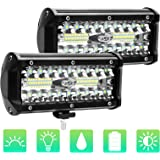 "2pcs Foco Led Tractor, 7"" 240W 24000LM Super Bright y Potentes Faros Trabajo Led Coches 6000K IP68 Impermeable de Faros Luz A"