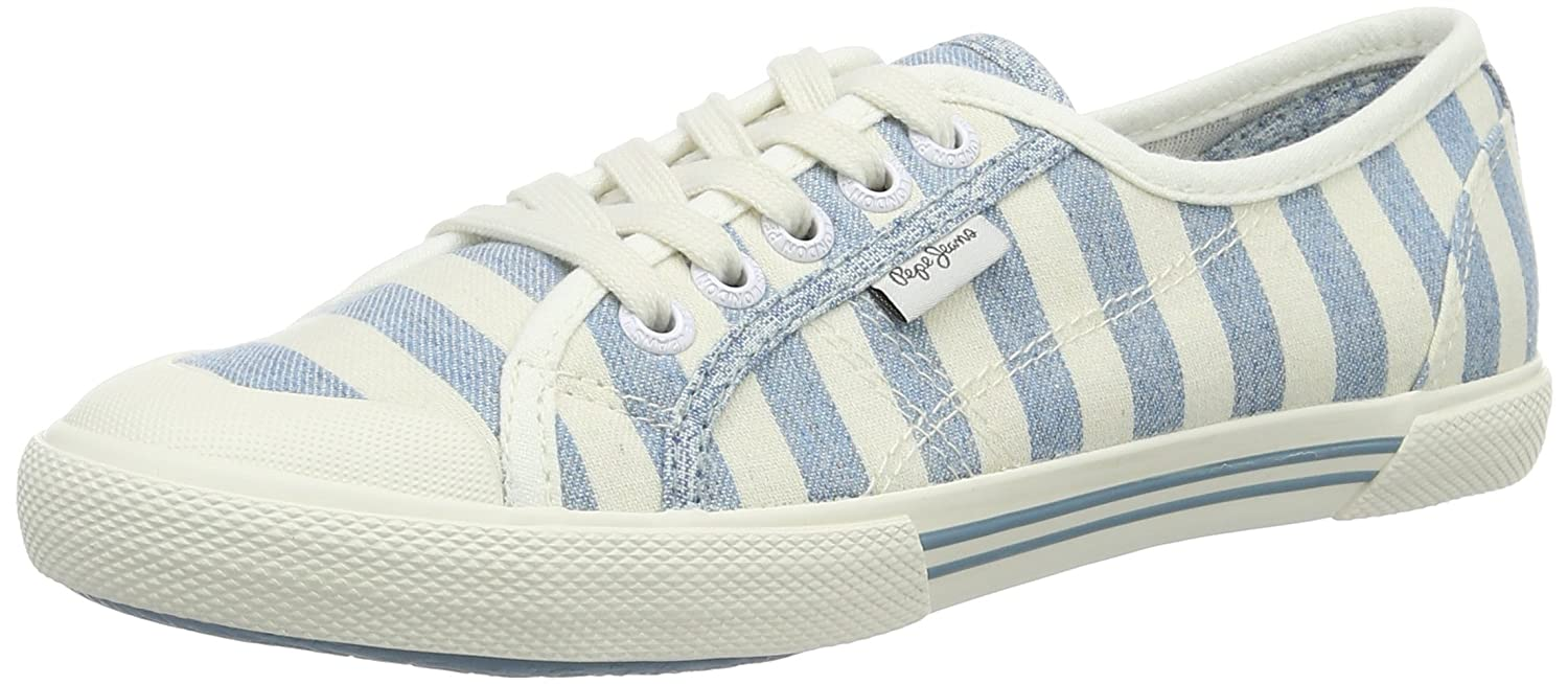 Pepe Jeans Abernew Stripes, Sneakers Basses Femme: : Chaussures et Sacs