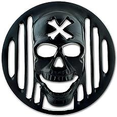 Autofy Skull Metal Headlight Grill for Royal Enfield Bullet Standard, Royal Enfield Bullet Classic & Royal Enfield Bullet Electra  (Black)