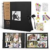 """MMTX Album Photos à Scrap Book Para Cadeau de Noël,100 Pages Bricolage Noires 10""""x10"""" Mémo Collection Fournitures Rangement K"""