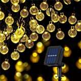 Bigzom Guirlande lumineuse solaire pour extérieur,11M 60LEDs Guirlande 8 modes boules de cristal pour extérieur/intérieur, ja