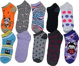 qraftink Socks for Women, Men, Boys & Girls | Premium Mercerised Cotton Unisex Loafer Socks for Daily Use & Sports | Fits Upto UK Size 10, US Size 12 & Euro Size 45 (Combo of 5 Liner Socks)