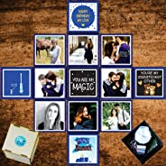 DecuT Unique Birthday Gift Idea for Her Gift for Wife, Personalized Romantic Gift Tiny Explosion Box(Blue)