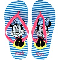 Ciabatte Infradito Bambina Disney Minnie Mouse | Righe Bianche e Celesti | Taglie da 26 a 33