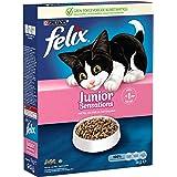 Felix Junior Sensations kattenbrokken met Kip, Melk en Groenten - kattenvoer voor kittens van 6 52 weken 1kg doos x 5 (5kg)
