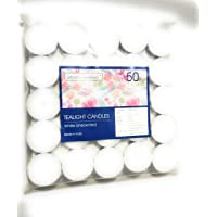Bliss Tea-Light Candles, 50 Piece (White, 4 cm x 1.5 cm)