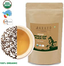 Jarved 100% Organic Orthodox Whole Loose Leaf Natural Handmade Assam Black Tea: Single Blend, TGFOP1 Grade, USDA Certified (135 Cups, 10.5 oz) - Free Ebook on Tea Recipes