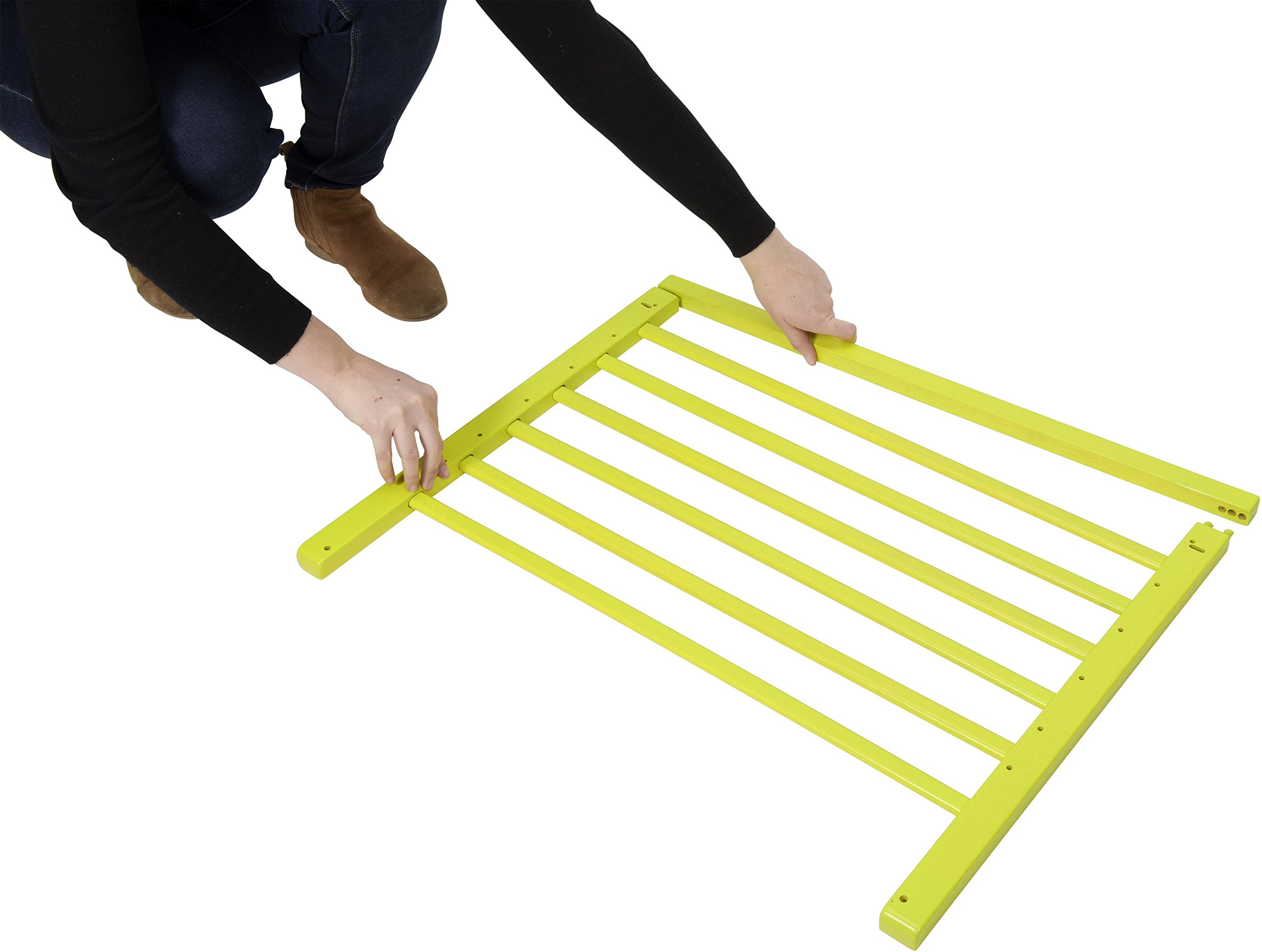 Badabulle Color Pop Safety Gate, Yellow Badabulle Mountable in just 7 minutes Easy to open Swinging door 5