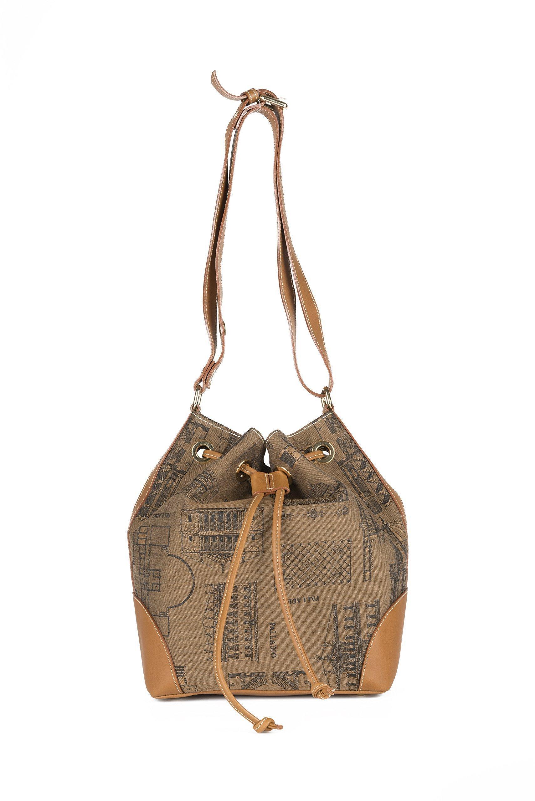 PALLADIObags, borsa villa Cordellina (bucket bag). Made in Italy - handmade-bags