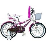 "Umit 16"" Diana Bicicleta Pulgadas Infantil, Unisex niños, Rosa/Blanca"