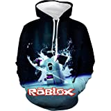 ROISHER Casual Children's Hoodie 3D Printed Unisex Pullover Hooded Sweatshirt for Boys,Girls