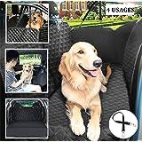 Pecute Hundedecke für Auto Rückbank Hundedecke für Auto Rückbank Kofferraumschutz Hunde Hand Autoschondecke mit Sicherheitsgurt