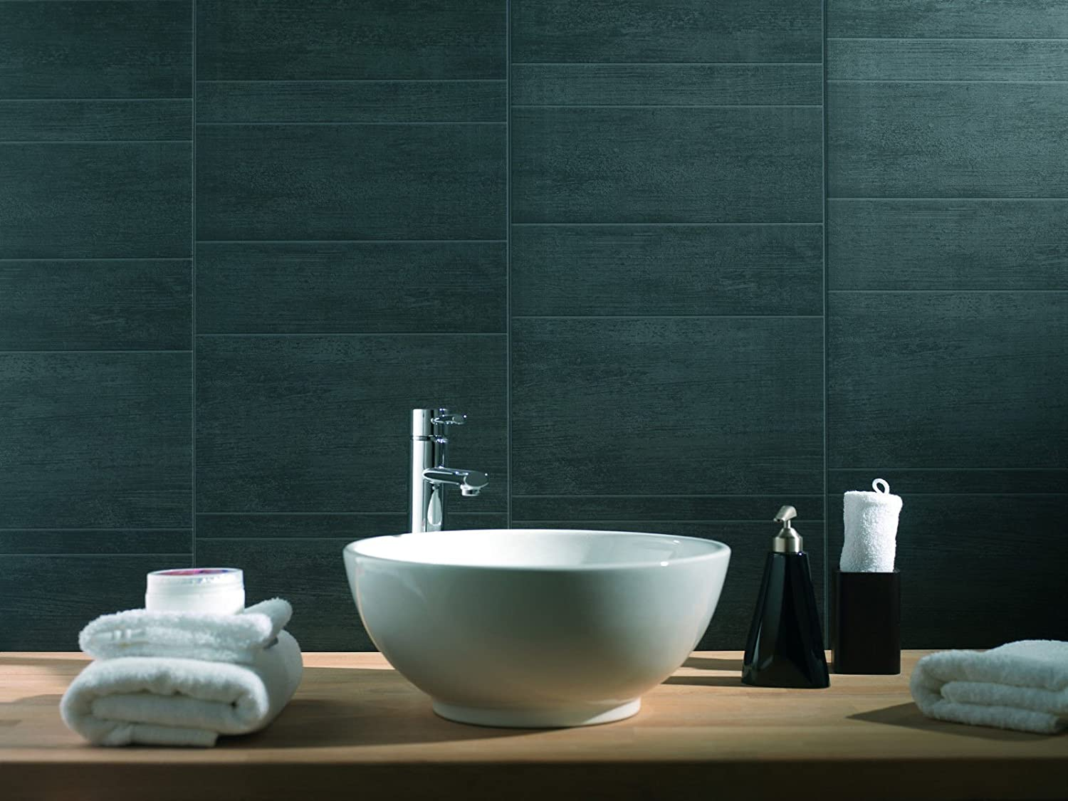 Exceptional Swish Marbrex Anthracite Large Tile Effect Wall Panels Bathroom PVC Wet Wall  Cladding (6, Large Tile): Amazon.co.uk: Kitchen U0026 Home Part 13