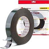 Sanojtape Ultra Sterke Zwarte Dubbelzijdige Tape 19mm x 10m | Ideale Permanente Montage Tape voor Automotive, Lijstwerk, LED,
