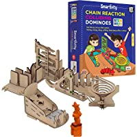 Smartivity Chain Reaction Colliding Dominoes STEM STEAM Educational DIY Building Construction Activity Toy Game Kit, Easy Instructions, Experiment, Play, Learn Science Engineering Project 8+
