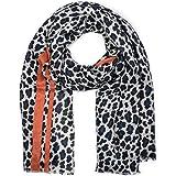 styleBREAKER Sciarpa da donna con motivo leopardo, righe colorate e frange, sciarpa invernale, stola, foulard 01017082