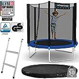 Kinetic Sports Outdoor Gartentrampolin Set inkl. Sprungtuch aus USA-Mesh +Sicherheitsnetz +Rand- u. Regen-Abdeckung…