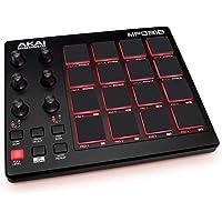AKAI Professional MPD218 - Contrôleur USB MIDI avec 16 Pads Sensibles à la Vélocité type MPC, 6 potentiomètres Assignables, Modes Note Repeat et Full Level, Logiciels de Création Inclus
