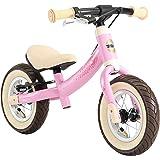 """BIKESTAR 2-i-1 Barns balance cykel från 2 år   springcykel med broms 10"""" tum sport   rosa fågel"""