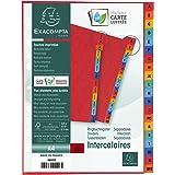 Exacompta - Réf. 4803Z - Intercalaires en véritable carte lustrée souple 225g/m2 FSC® avec 20 onglets imprimés alphabétiques