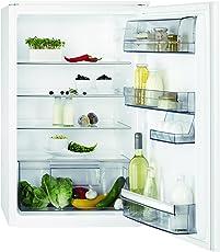 AEG SKA7882AAS Kühlschrank / integrierbarer Kühlschrank ohne Gefrierfach / 142 Liter Kühlraum mit Glasablagen / energieeffizienter Einbaukühlschrank der Klasse A++ (96 kWh/Jahr) / vollautomatisches Abtauen / Einbau-Höhe: 88 cm / weiß