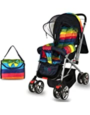 Babygo Delight Reversible Baby Stroller and Pram (Rainbow)