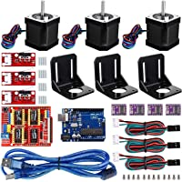 Electrobot CNC Controller 3D Printer Kit with for Arduino IDE with RAMPS 1.4 Mechanical Switch Endstop + DRV8825 Stepper…