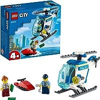 LEGO City Elicottero della Polizia con Minifigure Agente di Polizia e Ladro, per Bambini e Bambine dai 4 Anni in Su…