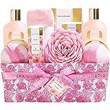 Spa Luxetique Coffret de Bain et de Soins, Parfum de Rose, 12PC Coffret Cadeau pour femme, Crème pour les Mains, Boules de Ba