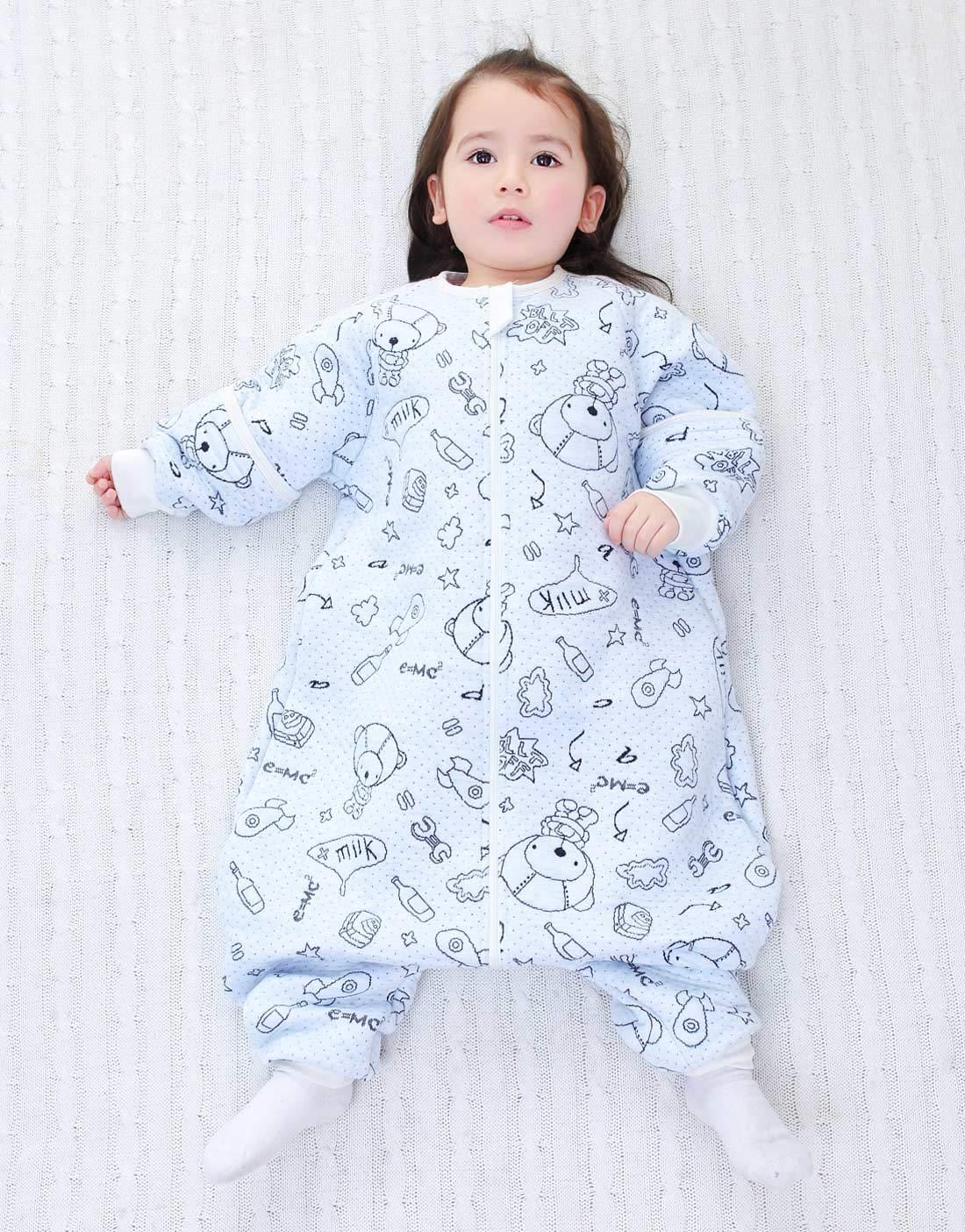 Happy Cherry Baby Saco de Dormir Mangas Desmontables 3 Zip Manta ponible Caliente 0-5 años