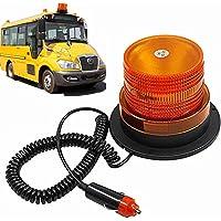 STARPIA Gyrophare magnétique LED, Balise de Signalisation Lumière d'Avertissement magnétique pour véhicule avec Prise Allume-Cigare 12 V (Ambre)