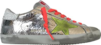 Golden Goose Scarpe Sneakers Uomo Vintage Superstar F000342.80304 Argento