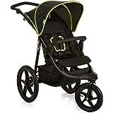 Hauck - Runner - poussette 3 roues - avec position couchée - pliage compact - roues gonflables - de 0 mois jusqu'à 25 kg - Black Neon Yellow (Noir Jaune)