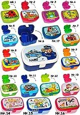 Brotdose / Lunchbox -  Bagger & Baustelle  - incl. Name - mit Herausnehmbare..