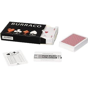 JUEGO - Burraco Display I 2 Mazzi Da 54 + 2 Carte Originali Burraco I 100% Plastica I Carte Da Gioco Juego I Professionali E Resistenti - Nero