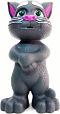 DIZHENG Talking Tom Cat with Recording, Music, Story and Touch Functionality, Wonderful Voice, Stories and Songs (Grey)