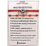 SabelAX Pulsera Roja 7 Nudos y Pulsera Ojo Turco, Hilo Rojo, Amuleto Buena Suerte, Proteccion Mal de Ojo, Para Mujer, Hombre