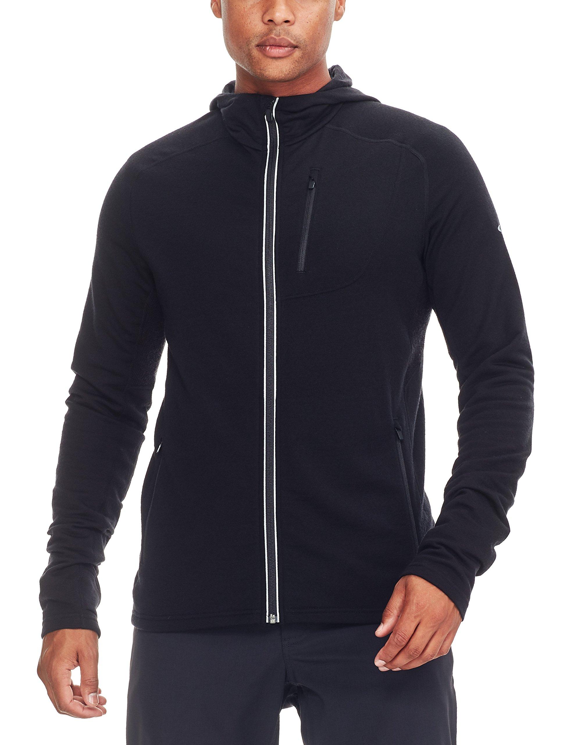 81kQd3fMuEL - Icebreaker Men's Quantum Long Sleeve Zip Hood Cover Ups