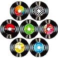 Rock'n'Roll Muziek Party Decoraties Papier opnames, kleurrijke uitsparingen, 35 stuks, 1950 cm (7 inch), decoratie bordjes vo